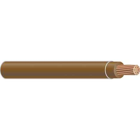 Building Wire, THHN, 6 AWG, Brown, 500ft