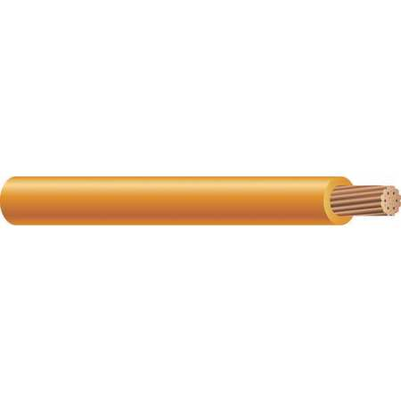 Building Wire, THHN, 6 AWG, Orange, 500ft