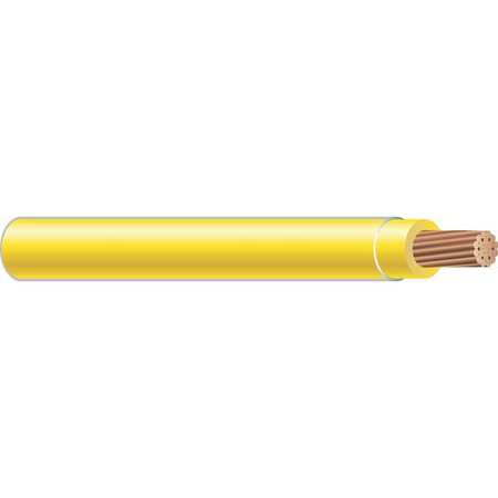 Building Wire, THHN, 4 AWG, Yellow, 500ft