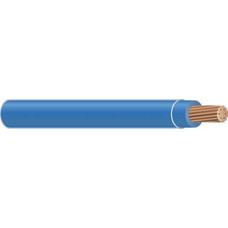 Building Wire, THHN, 4 AWG, Blue, 500ft