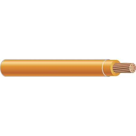 Building Wire, THHN, 4 AWG, Orange, 500ft