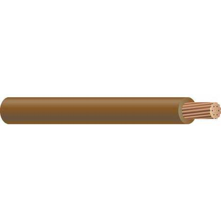 Building Wire, THHN, 2 AWG, Brown, 500ft