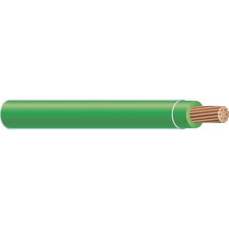 Building Wire, THHN, 2/0 AWG, Green, 500ft