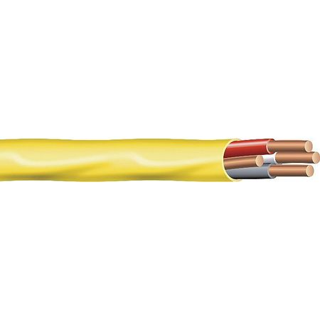 12 AWG 3 Conductor Nonmetallic Building Cable 600V YL