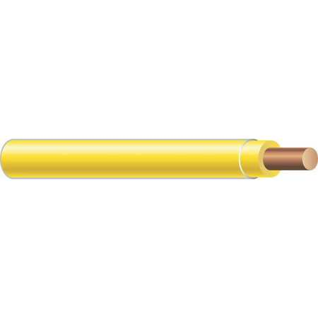 Building Wire, THHN, 10 AWG, Yellow, 2500ft