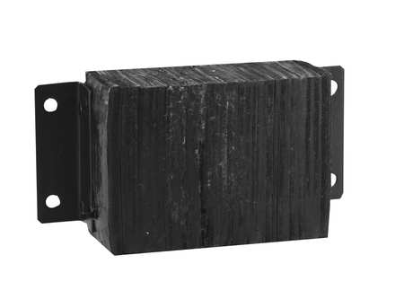 Dock Bumper, 10x6x14-3/4 In., Rubber