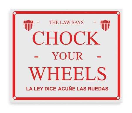 Chock Sign, English and Spanish