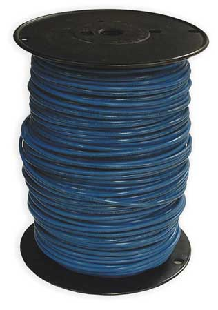 Building Wire, THHN, 10 AWG, Blue, 500ft