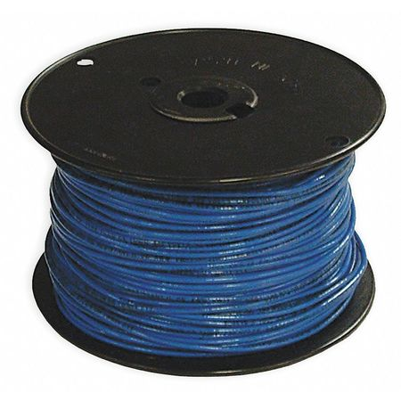 Building Wire, THHN, 14 AWG, Blue, 500ft