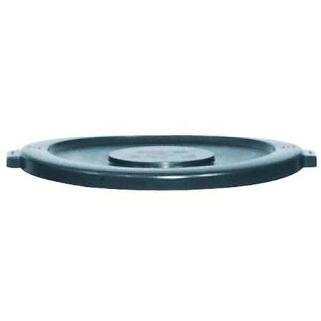 4W016 Trash Can Top, Flat, Snap-On Closure, Gray