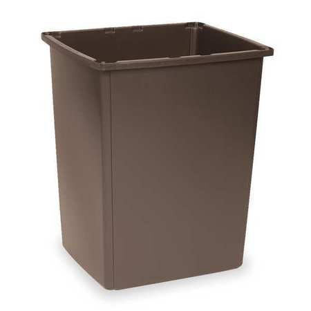 56 gal. White Polyethylene Rectangular Trash Can