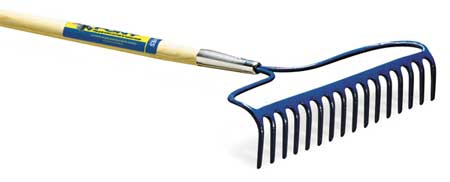 Seal-Cted Wood Bow Rake,  3-1/4 In.Tines