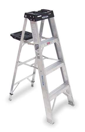 4' Aluminum 300 lb. Stepladder,  Type IA