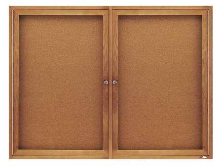 "Enclosed Cork Bulletin Board 36"" x 48"",  2 Door"