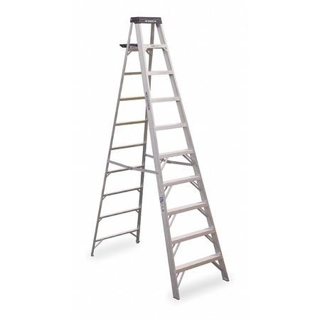10' Aluminum 300 lb. Stepladder,  Type IA