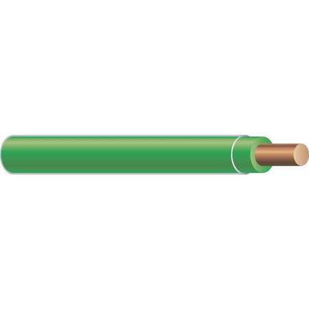 Building Wire, THHN, 12 AWG, Green, 500ft