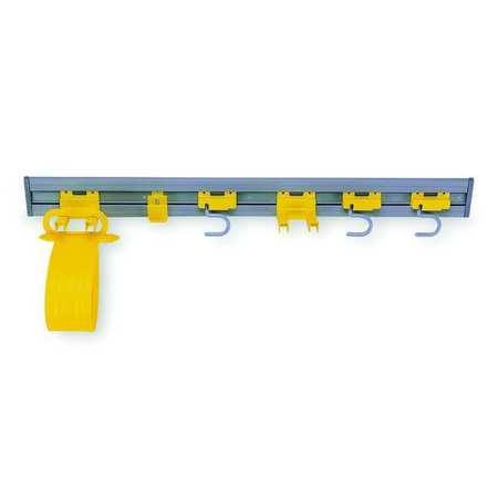 Closet Organizr/Tool Holdr, Gry/Ylw, Plstc