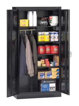 Combination Storage Cabinet, Black