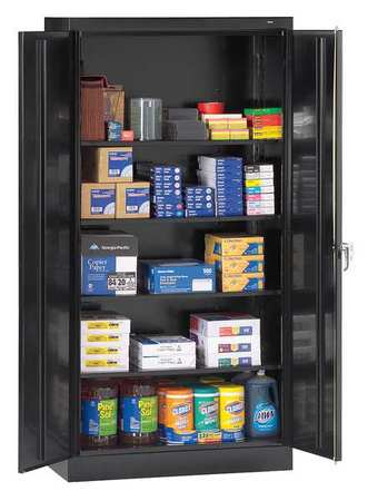 Storage Cabinet, Unassembled, Black