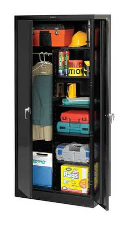 Combination Storage Cabinet, Black