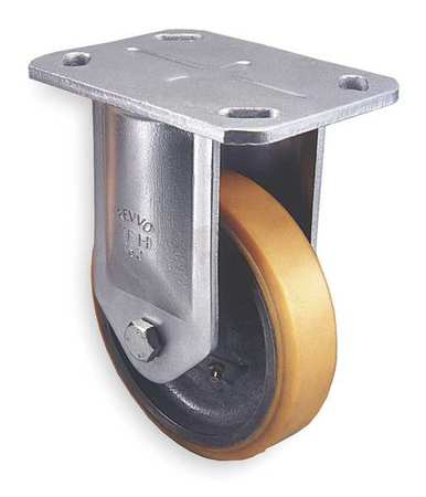 Plate Caster, Rigid, Poly, 8 in., 2420 lb.