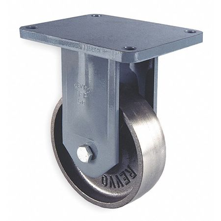 Plate Cstr, Rgid, Cast Iron, 6 in., 2000 lb.