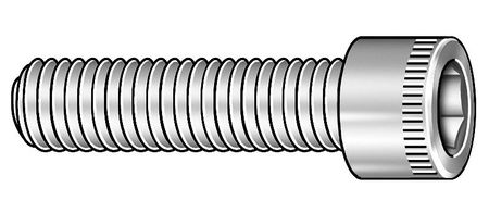 "1/4""-28 x 1"" Black Oxide Alloy Steel Socket Head Cap Screw,  100 pk."