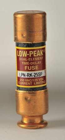 25A Time Delay Melamine Class RK1 Fuse 250VAC/125VDC