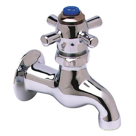 Bathroom Faucet Standard Spout,  Chrome,  1 Hole,  Cross Handle