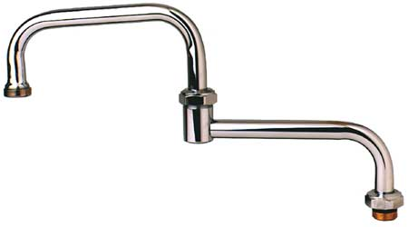 Spout, Faucet, Brass, Length 18 In