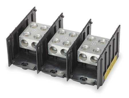 Pwr Dist Block, 760A, 3P, 6AWG-500 MCM, 600V