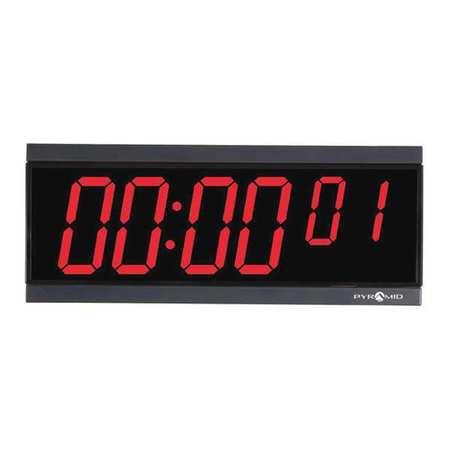"""11-1/8"""" Digital Wireless Digital Timer Wall Clock,  Black"""