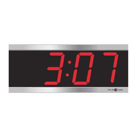 "11-1/8"" Digital Wireless Synchronized Wall Clock,  Silver"