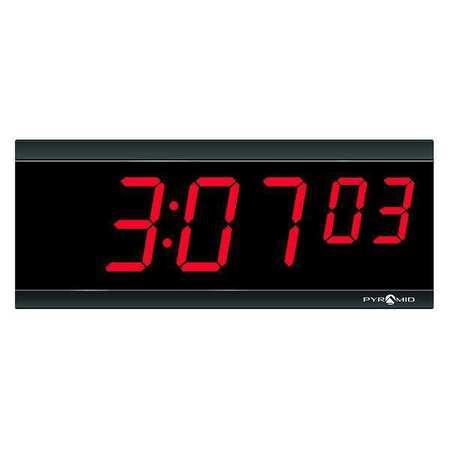 "11-1/8"" Digital Wireless Synchronized Wall Clock,  Black"