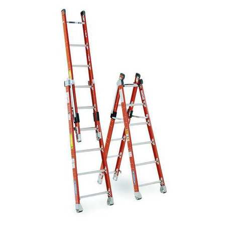 Combination Ladder, 8 ft., IAA, Fiberglass