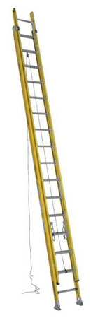 Extension Ladder, Fiberglass, 32 ft., IAA