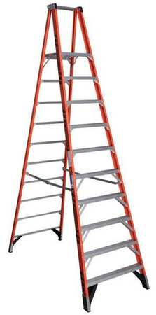 Platform Stepladder, 10 ft., FGL, 300 lb.
