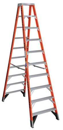 10' Fiberglass 375 lb. Twin Stepladder,  Type IAA