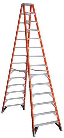 14' Fiberglass 300 lb. Twin Stepladder,  Type IA