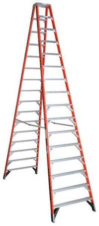 16' Fiberglass 300 lb. Twin Stepladder,  Type IA