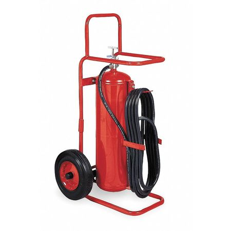Wheeled Fire Extinguisher, 50 lb, 50 ft