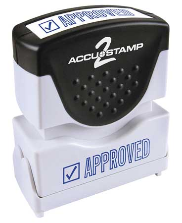 Microban Message Stamp,  Approved,  3/8""