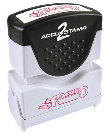 Microban Message Stamp,  Faxed,  3/16""