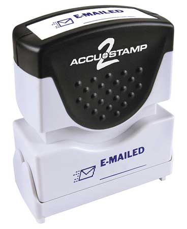 Microban Message Stamp,  Emailed,  1/8""