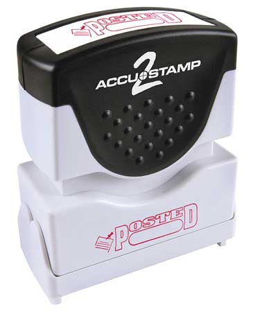 Microban Message Stamp,  Posted,  1/4""