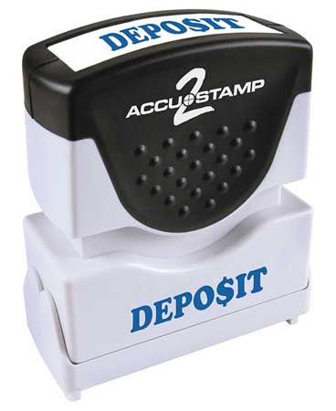 Microban Message Stamp,  Deposit,  3/8""