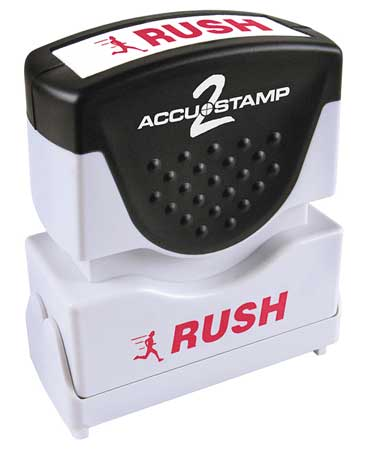 Microban Message Stamp,  Rush,  3/8""