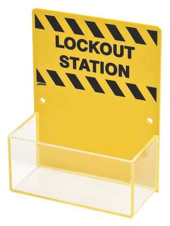 Lockout Station, Unfilled, 6-1/4 In W