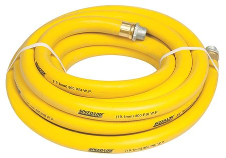 "3/4"" ID x 25 ft Nitrile Coupled Air Hose 300 PSI YL"