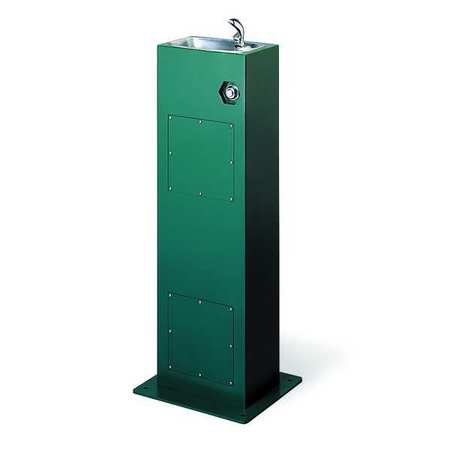 Outdoor Drinking Fountain,  Pedestal,  Push Button Operation